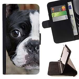 Momo Phone Case / Flip Funda de Cuero Case Cover - Francés Bull Terrier Bulldog americano; - Samsung Galaxy S4 IV I9500