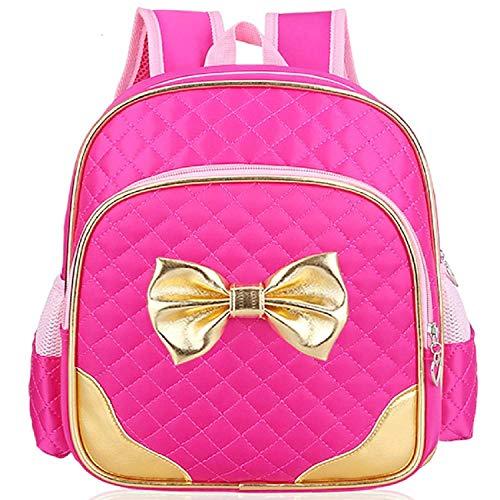 Suerico Cute Durable Waterproof Toddler Preschool Bag Kindergarten Kids Backpack for Girls (rose red)
