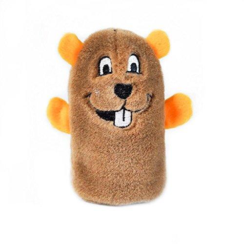 ZippyPaws Squeakie Buddie No Stuffing Plush Dog Toy - Beaver