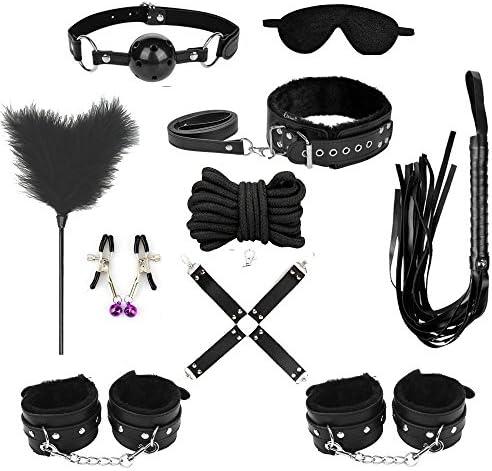 TissueDeep Novelty Leather Strength Training Set SAdjustable Sports Kit of 10pcs Black