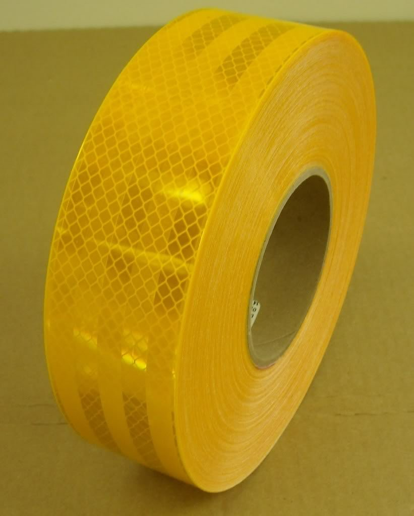 Safe Way Traction 2'' x 150' Roll 3M Diamond Grade Conspicuity School Bus Yellow Reflective Safety Tape 983-71ES