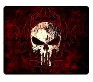 Bloody Skulls Red Black Background Punktail's Collections Custom Imaged Mouse Pad High Quality Eco Friendly Cloth with Neoprene Rubber Backing Customized and Made to Order Desktop Laptop or Gaming Mouse Pad