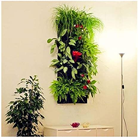 7 Pocket Vertical Wall Garden Hanging Planter Eco Friendly Re Cycled  Bottles Plastic Felt