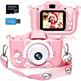Langwolf Kids Digital Camera for Girls and Boys, Kids Children Selfie Photo Video Camera Camcorder with 32 or 16GB SD Card, Gifts for Girls and Boys Age 3 4 5 6 7 8 9 10 11 12 13 Years Old