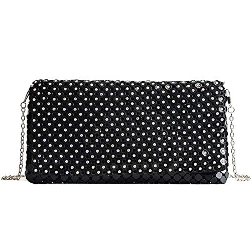 Handbag Black Purse Bags Party Bride For Wedding Women EPLAZA Clutch Rhinestones Evening Envelope Prom T06aO