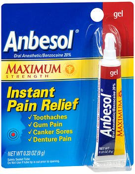 Amazon Com Anbesol Instant Pain Relief Gel Maximum