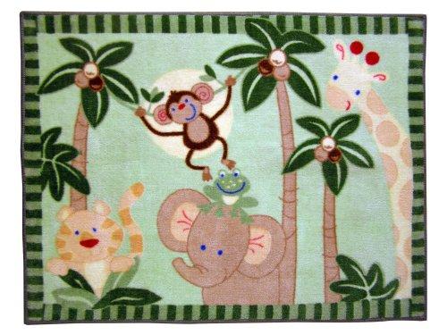 NoJo Jungle Babies Rectangular Rug, Baby & Kids Zone