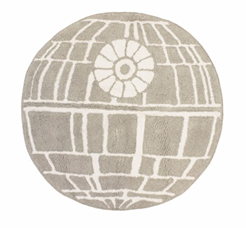 - Jay Franco Star Wars Classic Gray Death Star Cotton Tufted Bath Rug