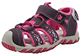 Apakowa Kids Girls Soft Sole Closed Toe Sandals Summer Shoes with Arch Support (Toddler/Little Kid) (Color : Y607PURPLE, Size : 5 M US Toddler)