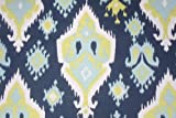 Navy, Blue, Saffron Yellow and White Native American Ikat Drape, One Rod Pocket Curtain Panel 108 inches long x 50 inches wide Review