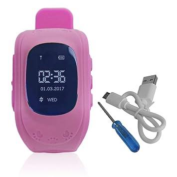 Profesional Q50 Pantalla OLED Niños Niños Reloj Inteligente Localizador de Rastreador GPS Anti-Perdió Reloj Inteligente Impermeable: Amazon.es: Juguetes y ...
