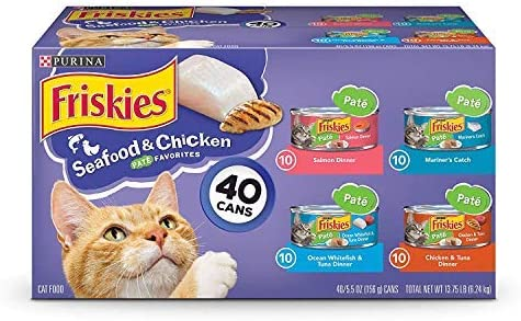 Purina Friskies Canned Wet Cat Food 40 ct. Variety Packs 2