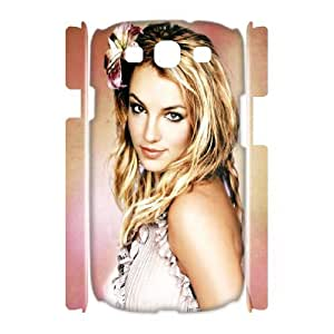 3D Samsung Galaxy S3 Cases Britney Spears Cute, Tyquin, [White]