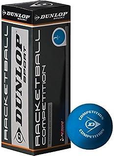 Dunlop Racquetball 3 Balle Boite Compétition Balles Pour Débutants & Améliorants