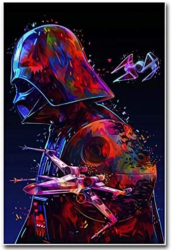 5D DIY Diamond Embroidery Crystal Rhinestone Cross Stitch Handmade Mosaic Paintings Arts Craft for Home Wall Decor Star Wars Full Drill Diamond Painting by Number Kits 12X16inch//30X40CM