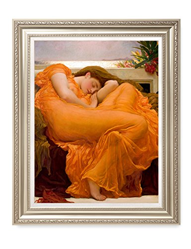 DECORARTS - Flaming June, Frederic Leighton Classic Art. Giclee Prints Framed Art for Wall Decor. Framed Size: 30x36