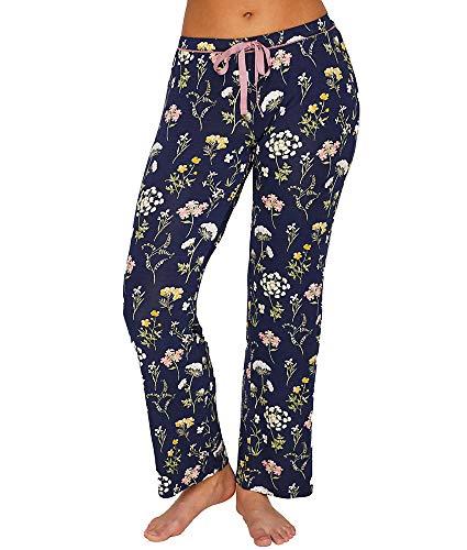 PJ Salvage Women's Lounge Pajama Pant, Midnight Blue Large