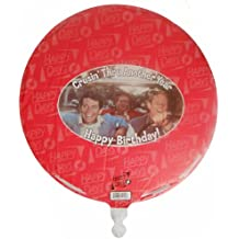 "Happy Days ""Crusin' Thru Another Year Happy Birthday!"" Mylar Balloon - Richie Cunningham, Ralph Malph, and Potsie"
