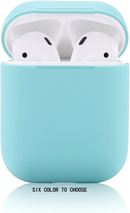 AirPods Case/Airpods 2 Case,Teyomi Protective Silicone Cover Skin with Sport Strap for Apple Airpods Charging Case[Front LED Not Visible] (Light Blue)