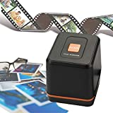 [2019 Updated ]Digital Film & Slide Scanner Converter - Convert 35mm 126 Film Negatives & Slides to HD Digital JPEG Photos (1800 or 3600dpi), Easy Load Film Insert, Support Windows & Mac OS Computers