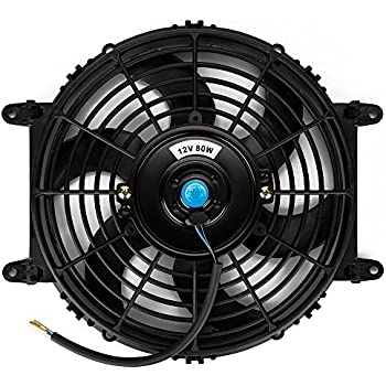 12 Inch 80W Universal Car Radiator Cooling Fan With Pull//Push Mounting Fittings