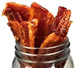 Delicious Uncured Real Bacon Jerky Hand Crafted Small Batch Kickin  Sriracha MSG Free Nitrate & Nitrite Free (Kickin  Sriracha, 1 pack)