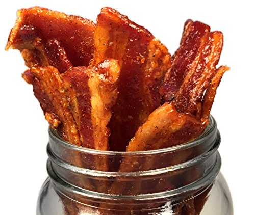 Delicious Uncured Real Bacon Jerky Hand Crafted Small Batch Kickin' Sriracha MSG Free Nitrate & Nitrite Free
