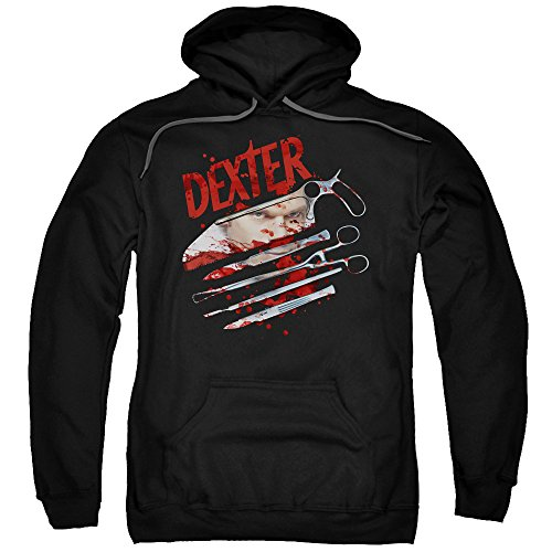 Dexter Blood Never Lies 2 Mens Pullover Hoodie Black SM