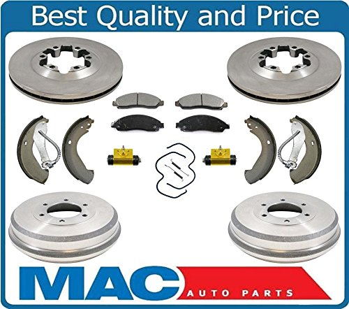 F Rotors Disc Pads Brake Drums Shoes Spring Wheel Cyl 04-08 Chevtrolet Colorado