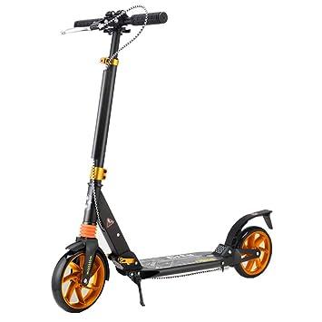 LJHBC Patinete Pedal de Aluminio Todo con Freno de Mano ...