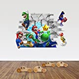 Kayau Vinyl Wall Decals Super Mario Removable Wall Art Decals Murals DIY Wall Sticker for Kids Nursery Baby Playroom Decoration 48x65 cm