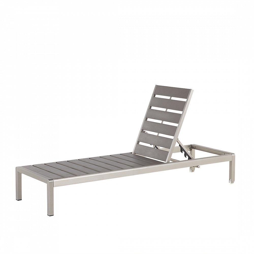 Gartenliege Grau - Liegestuhl - Sonnenliege - Relaxliege - Liege - NARDO