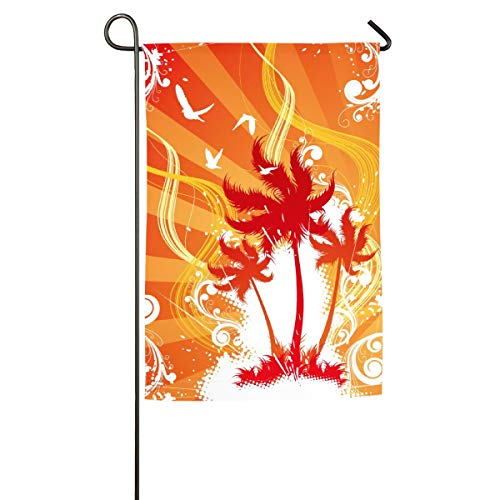 Tidyki Tree Fall Wild Goose House Garden Flag Decorative Double Sided Home Flags Independence Day Yard Outdoor Lawn Decoration 12