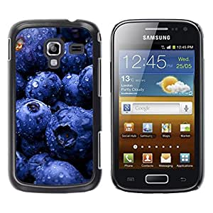 Be Good Phone Accessory // Dura Cáscara cubierta Protectora Caso Carcasa Funda de Protección para Samsung Galaxy Ace 2 I8160 Ace II X S7560M // Fruit Blueberries