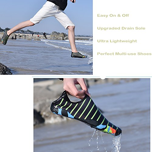 BlanKey Water Sports Shoes Quick-Dry Barefoot Flexible Flats Beach Swim Shoes For Men Women Kids Flower 45 msSF39paF