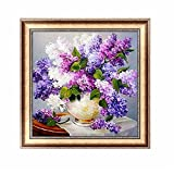 5D DIY Diamond Embroidery Painting Cross Stitch Home Wall Decor Craft (Lavender)
