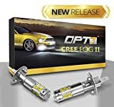 2000 acura rl fog lights - OPT7 H1 CREE XLamp LED DRL Fog Light Bulbs - 5000K Bright White @ 700 Lm per bulb - All Bulb Sizes and Colors - 1 year Warranty (Pack of 2)
