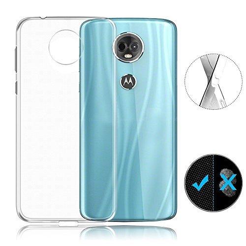 Motorola Moto E5 Plus Case, AVIDET Shock-Absorption Flexible Soft Gel TPU Silicone Case Cover for Motorola Moto E5 Plus (Transparent)