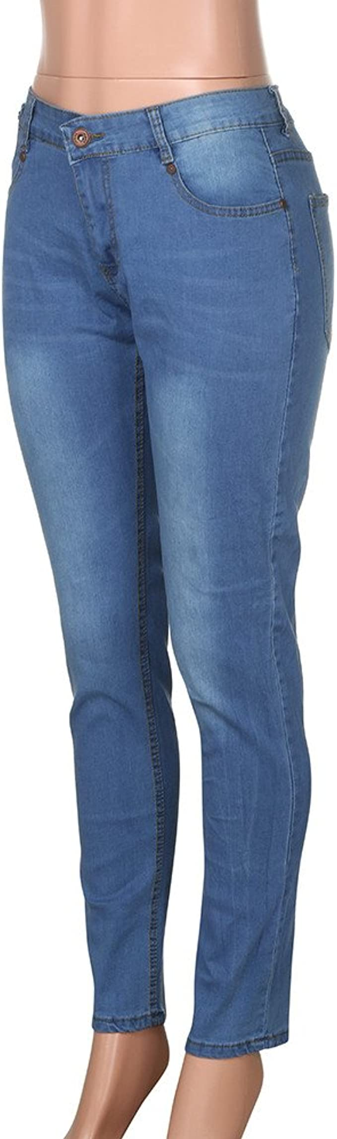 VPASS Pantalones Vaqueros para Hombre, Pantalones Casuales Solid ...