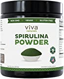 Viva Naturals Spirulina Powder: California-Grown, Non-GMO, Non-Irradiated and Pesticide-Free — The FINEST Green Superfood for Smoothies and Juices, 8 oz