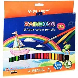 Y-Plus 24 COLOR PENCIL RAINBOW PLUS CARD BOARD