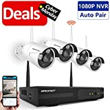 Wireless Security Camera System,SMONET 4CH HD Video Security System,4pcs HD Bullet IP Cameras,Support Motion Detection Alarm & Remote View by iOS or Android App,No Hard Drive