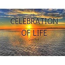 Celebration of Life Guest Book: Classic Memorial, Funeral, Wake, Condolence Book, Church, Memorial Service, Ocean Sunset (Elite Guest Book)