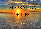 Celebration of Life Guest Book: Classic Memorial, Funeral, Wake, Condolence Book, Church, Memorial Service, Ocean Sunset (Elite Guest Book)