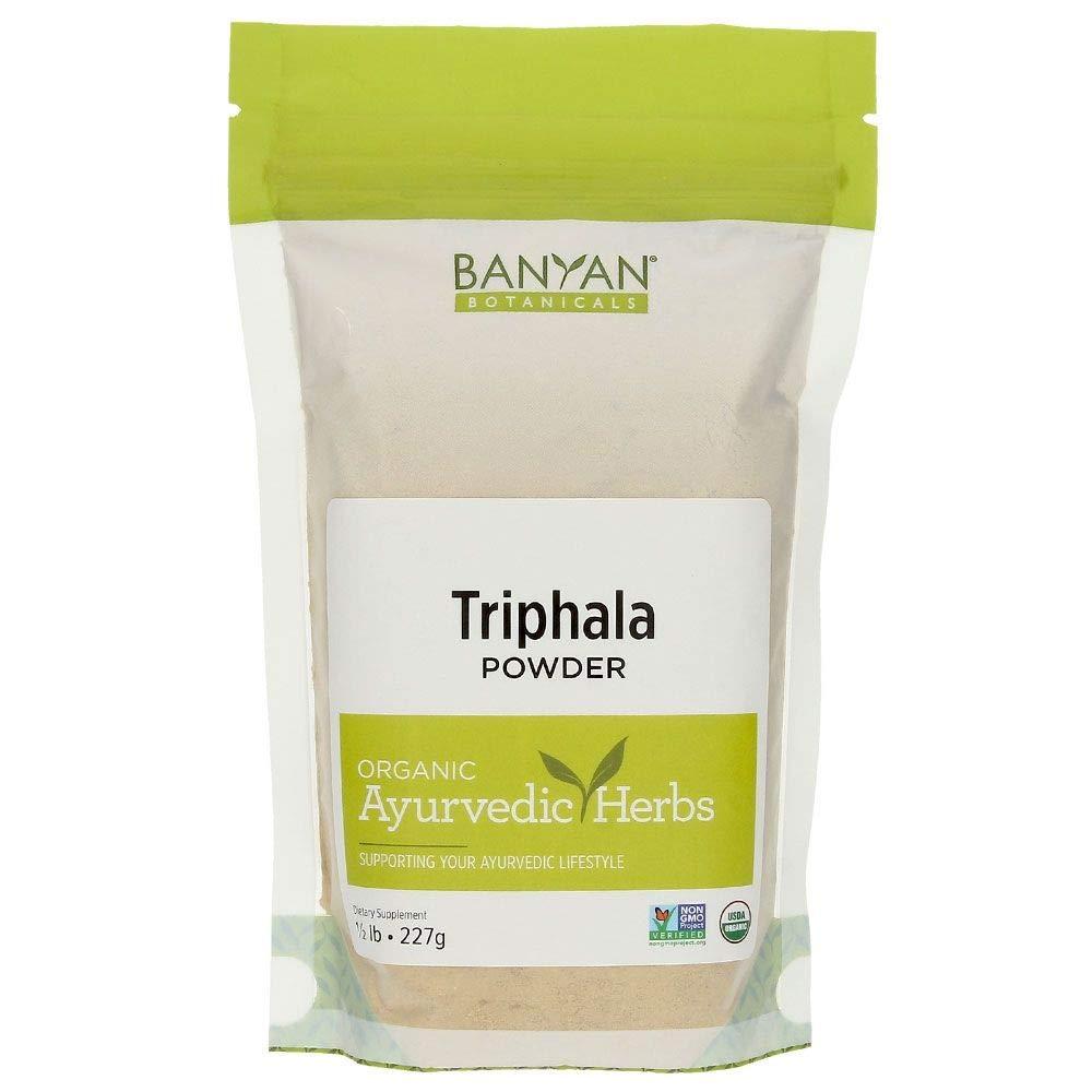 Banyan Botanicals Organic Triphala Powder - 1/2 Pound - USDA Organic - Balancing Formula for Detoxification & Rejuvenation *