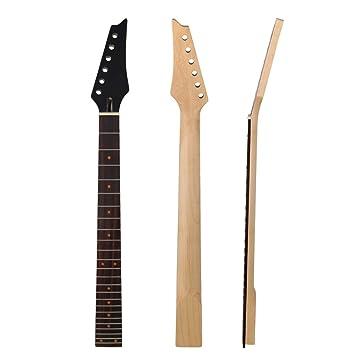 yibuy arce Cuello de guitarra Diapasón para 24 trastes de 6 cuerdas Guitarra eléctrica, color negro: Amazon.es: Instrumentos musicales