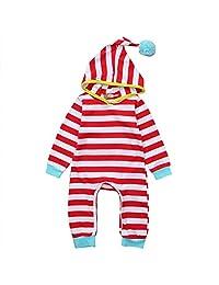 Stripe Clothes Bodysuit Romper Sleepsuit Sleepwear Pajamas for Baby Boys Girls