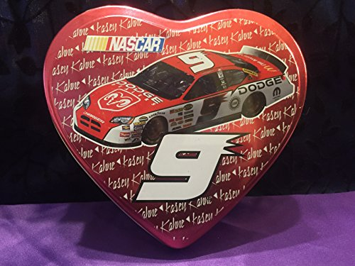 2005 Kasey Kahne #9 Valentine's Day Edition Heart-Shaped Box Filled With Fruit Flavored Candy Cars and Stickers -