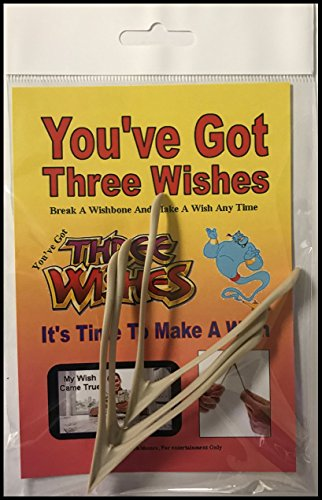 Make a wish at thanksgiving Christmas, New Years, Birthday or anytime with a Wishbone - 3 Pieces Wishbone - Multipurpose Wishbones Good Luck Charm - Ideal for Parties and graduations.