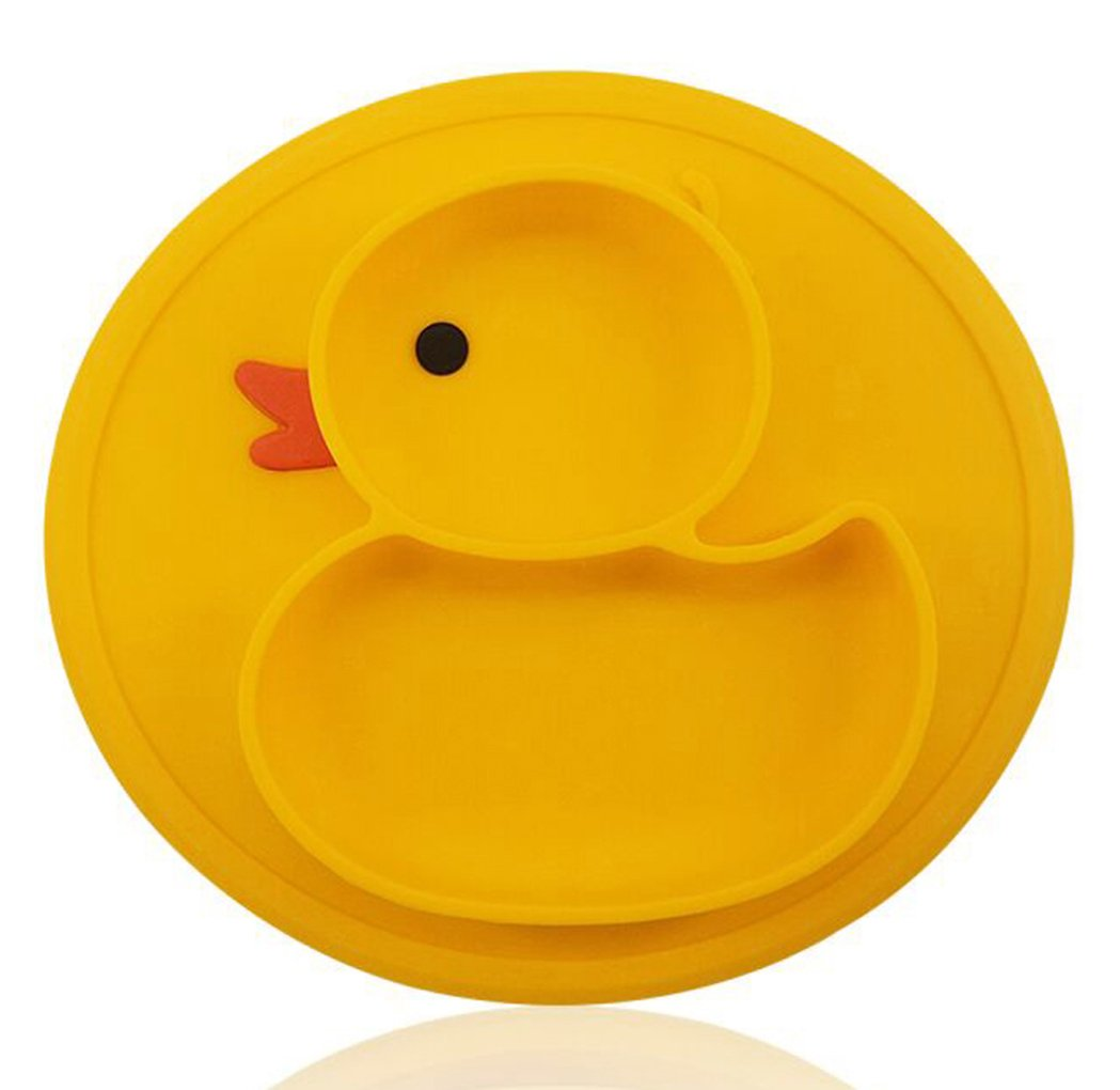 Baby Silicone Suction Plate for Toddlers Feeding, Cute Design Placemat Bowl Food Mat, Fits Most Highchair Trays BPA-Free FDA Approved Plates for Babies, Kids, Dishwasher and Microwave Safe Nohler Life